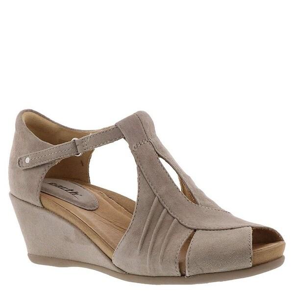f6e672fcf327 Shop Earth Womens Primrose Leather Peep Toe Casual Platform Sandals ...