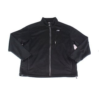 New Balance NEW Black Mens Size 2XL Ribbed Full Zip Mock-Neck Sweater