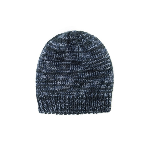 76d1389dc64 Shop Muk Luks Hat Mens Marled Beanie Fleece Lined O S Black Marl 00 - black  marl - Free Shipping On Orders Over  45 - Overstock - 18216091