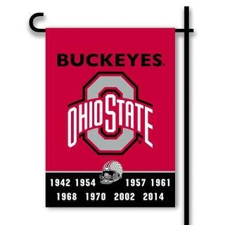 Bsi Products Inc Ohio State Buckeyes 2-Sided Garden Flag Garden Flag