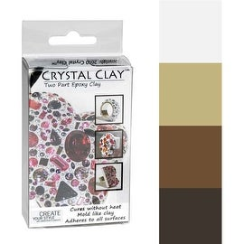 Crystal Clay 2-Part Epoxy Clay Kit - Neutrals Color Mix 100g