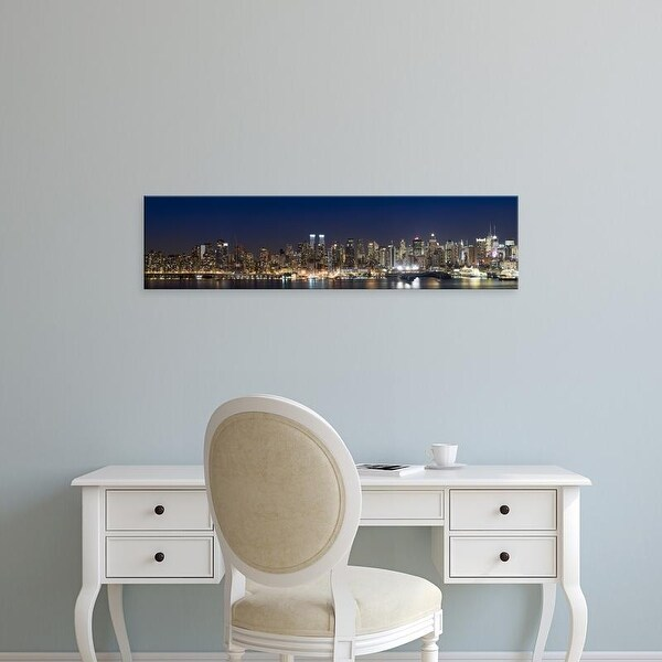 Easy Art Prints Panoramic Images's 'Hudson River, Midtown Manhattan, Manhattan, New York City' Canvas Art