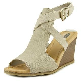 Dr. Scholl's Celine Women  Open Toe Synthetic Tan Wedge Heel