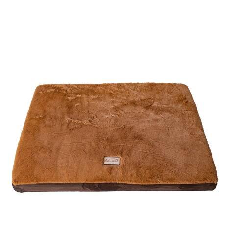 Armarkat Mocha and Brown 24x18-inch Memory Foam Orthopedic Pet Bed Pad
