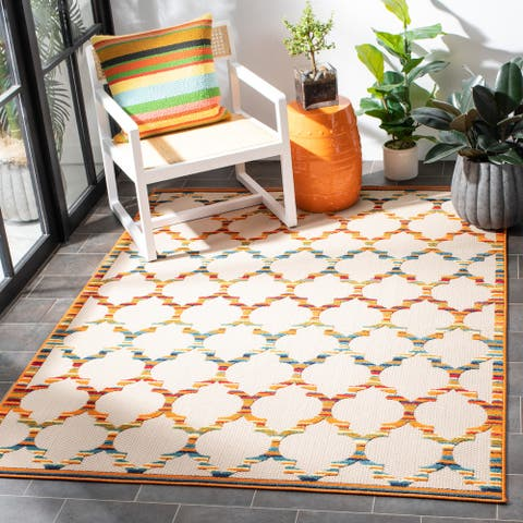 SAFAVIEH Cabana Nilgun Trellis Indoor/ Outdoor Patio Backyard Rug