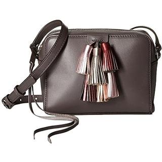 Rebecca Minkoff Womens Sofia Crossbody Handbag Leather Tassel - new grey metallic multi - small