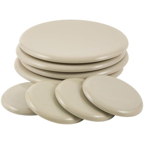 "Super Sliders Reusable 8-Pack Heavy Furniture Sliders Kit, (4) 3.5"" Round & (4) 7"" Round - beige"