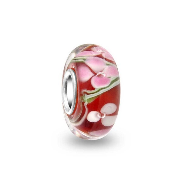 Ladybug LAMPWORK Murano Glass .925 European Bead Charm