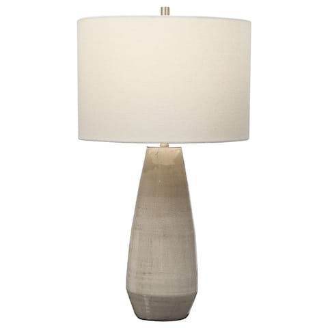 Uttermost Volterra Taupe-Grey Table Lamp