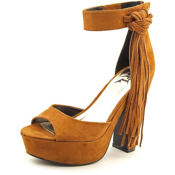 LFL Wyld Women Open Toe Leather Platform Heel