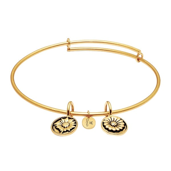 Chrysalis Believe Expandable Bangle in 14K Gold-Plated Brass - YELLOW