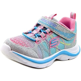 Skechers Girl Swift Kicks-Color Spark Round Toe Synthetic Tennis Shoe