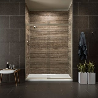 """Kohler K-706009-L Levity 74"""" H x 56-5/8 - 59-5/8"""" W Sliding Shower Door with 1/4"""" Thick Crystal Clear Glass and Blade Handles"""