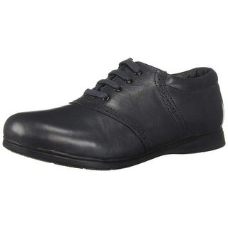 School Mates Womens Oxford Leather Round Toe Oxfords