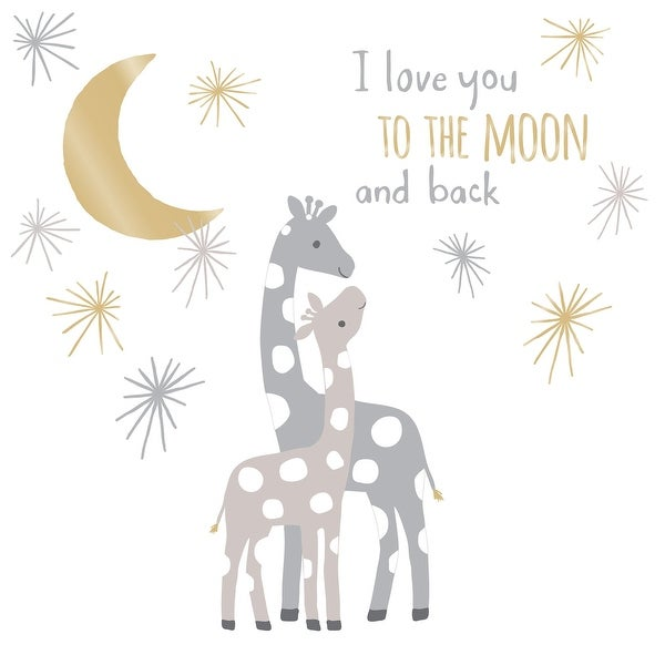 Lambs & Ivy Signature Moonbeams I Love You to the Moon and Back Celestial Giraffe Nursery Wall Decals/Appliques. Opens flyout.