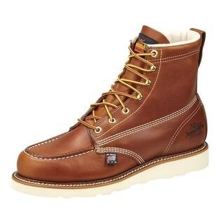 Thorogood Work Boots Mens Leather Wedges Moc Toe Tobacco 814-4200