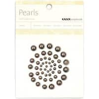 Pewter - Self-Adhesive Pearls 50/Pkg