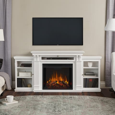 Calie Media Electric Fireplace White