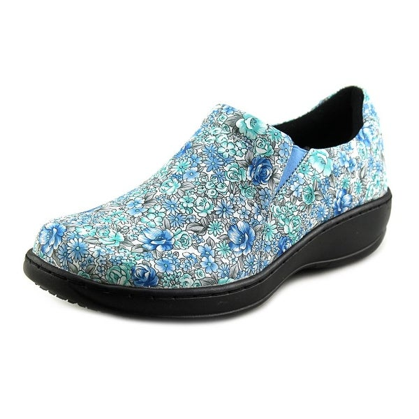 Spring Step Winfrey Women Round Toe Leather Blue Clogs