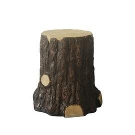 "22"" Tree Stump Outdoor Patio Garden Decorative Figure"