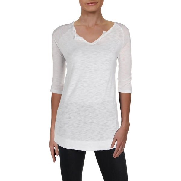 35c9b1ea2 Shop Michelle by Comune Womens T-Shirt V-Neck Elbow-Sleeve - Free Shipping  On Orders Over $45 - Overstock - 28244075