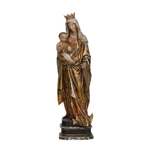 Magnesia Vintage Reproduction Virgin Mary and Child Statue