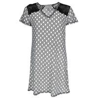 Sag Harbor Women's Diamond Night Shirt Gown with Lace Insets
