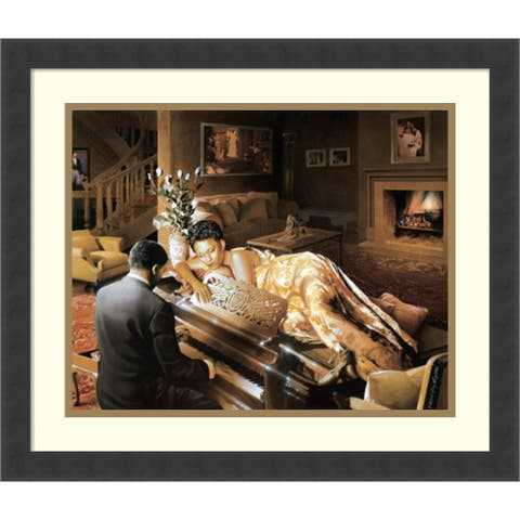 Framed Art Print 'Sonata' by Edward Clay Wright 22 x 19-inch