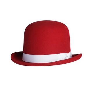 Tall Derby Bowler Hat in Red