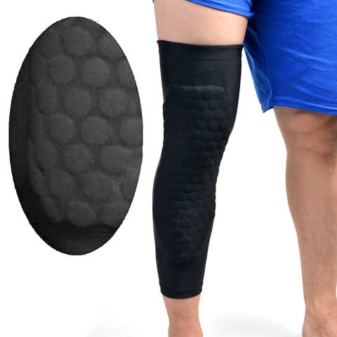 1PCS Basketball Sport Knee Pad Long Leg Sleeves Honeycomb Protective Gear