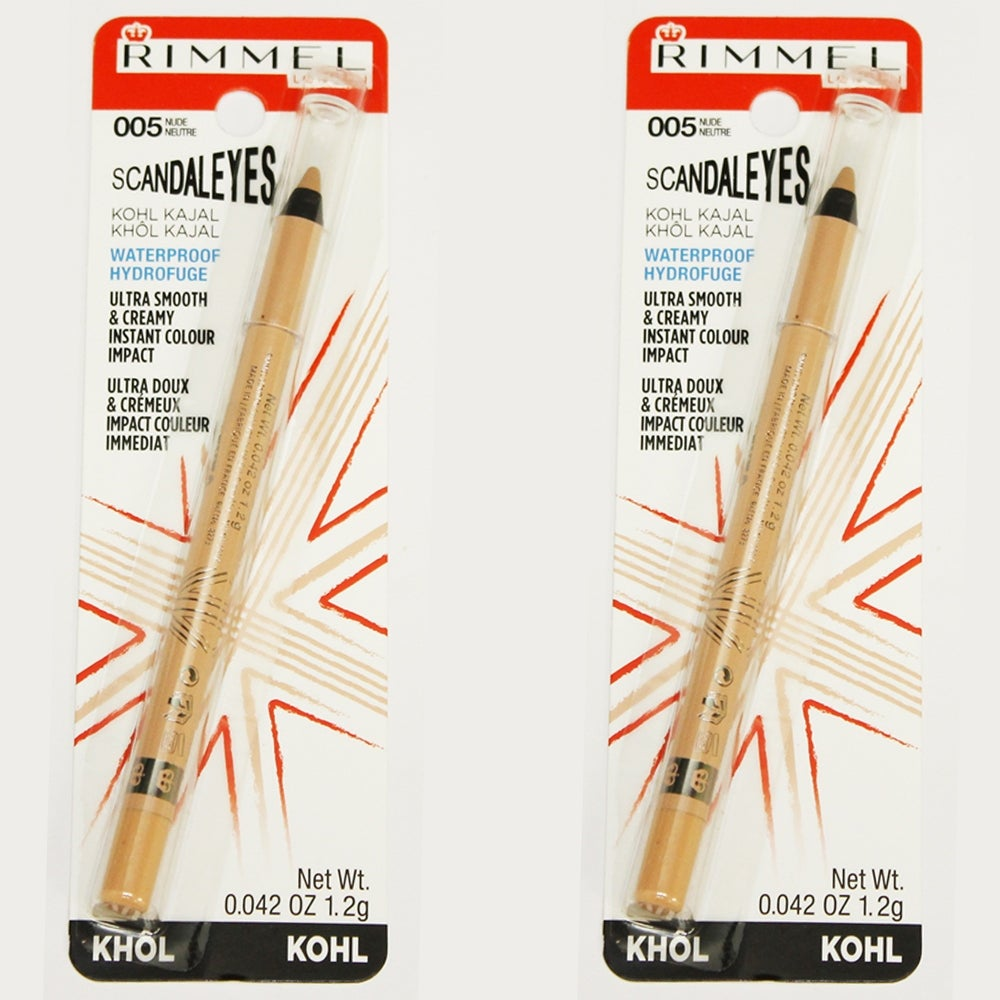 Rimmel London ScandalEyes Waterproof Kohl Kajal Eye Liner Nude 005 (2 Pack) (Eyeliner)