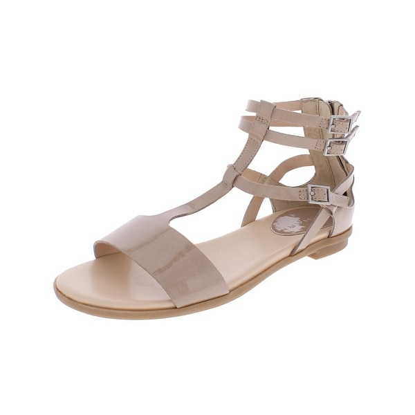 Tahari Womens Wave T-Strap Sandals Patent Leather Strappy