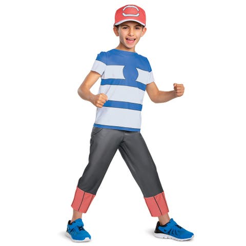 Disguise Ash Ketchum Alolan Classic Child Costume - Red/White/Blue