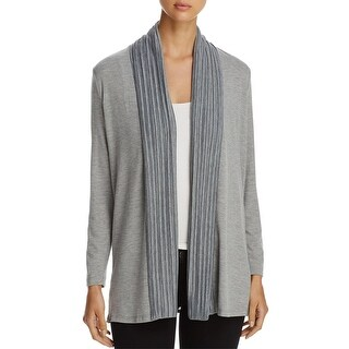 Cupio Womens Cardigan Top Pleated Open Front