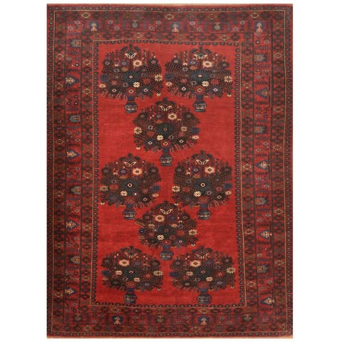 Handmade One-of-a-Kind Balouchi Wool Rug (Afghanistan) - 7' x 9'5