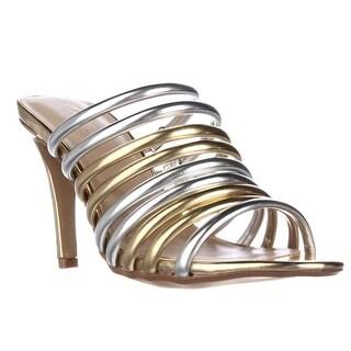 TS35 Imelda Strappy Dress Mules, Gold Silver