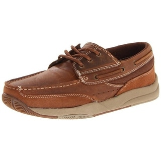 Roper Mens Leather Lace Up Boat Shoes - 9 medium (d)