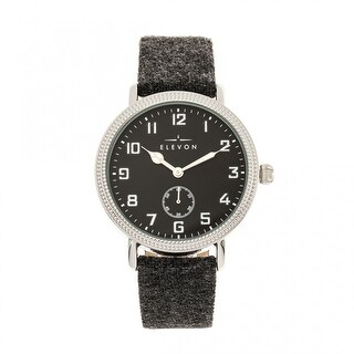 Elevon Northrop Leather-Band Watch - Charcoal/Black