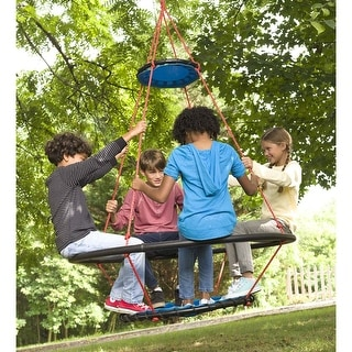 Link to HearthSong 68-in. x 50-in. Large Vortex Outdoor Spinning Ring Swing - One-Size Similar Items in Outdoor Play