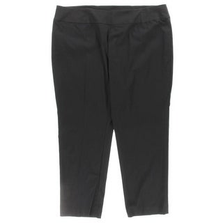 Nic + Zoe Womens Plus Pants Stretch Solid