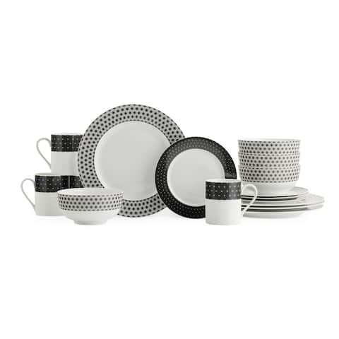 Spode Home Retrospect 16 Piece Dinnerware Set, Service for 4