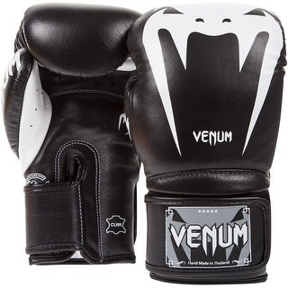 Venum Giant 3.0 Nappa Leather Hook and Loop Boxing Gloves - Black/White
