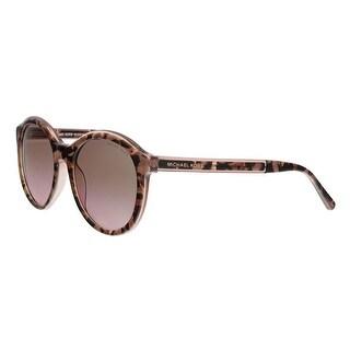 Michael Kors MK2048 325114 MAE Pink Tort Graphic Round Sunglasses - 54-19-140