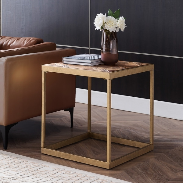 Carbon Loft Darren Reclaimed Wood Square End Table. Opens flyout.