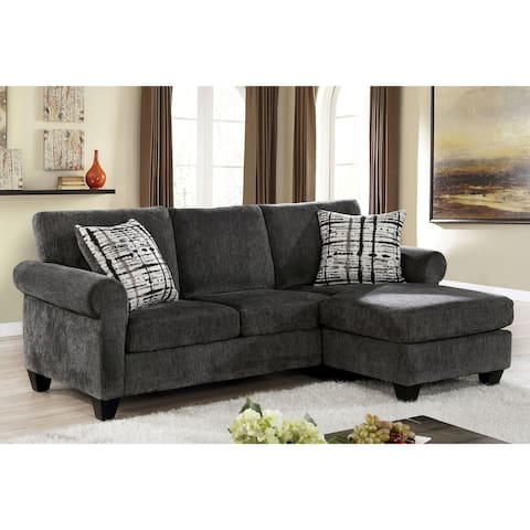Furniture of America Kressey Transitional Grey Fabric Sectional