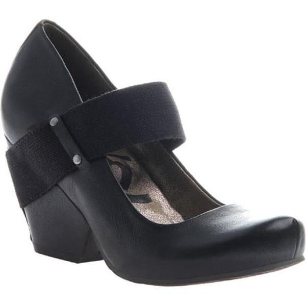 OTBT Women's Bespoke Mary Jane Black Leather/Textile