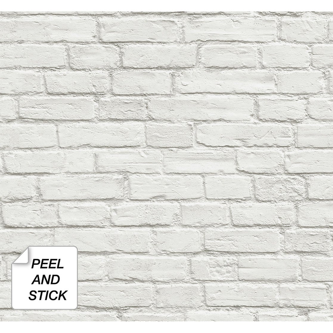 Nextwall Vintage White Brick Peel And Stick Removable Wallpaper 20 5 In W X 18 Ft L Overstock 31053541