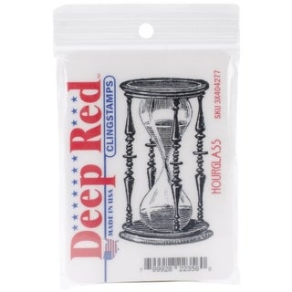 Deep Red Stamps Hourglass Rubber Cling Stamp - 1.6 x 2.9