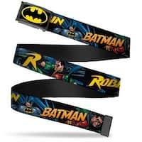 Batman Fcg Black Yellow Chrome Batman & Robin In Action W Text Black Web Belt