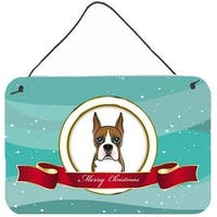 Boxer Merry Christmas Wall and Door Hanging Prints